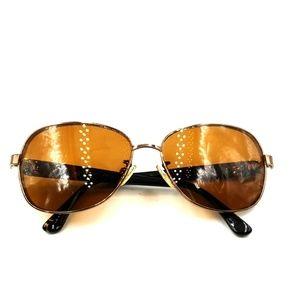Michael Kors Bronze Metal Oval Sunglasses
